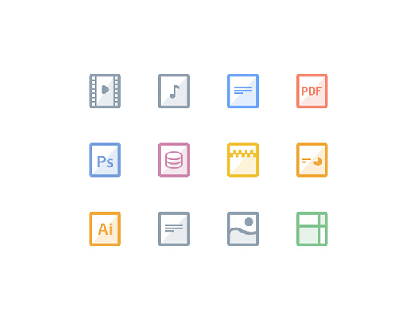zip square music icons free file icons file color box