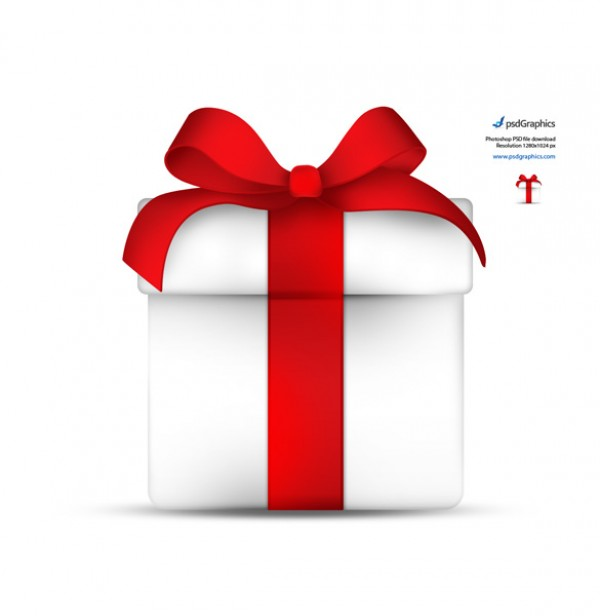 Gift Box Icon Red : White gift box tied red bow icon welovesolo