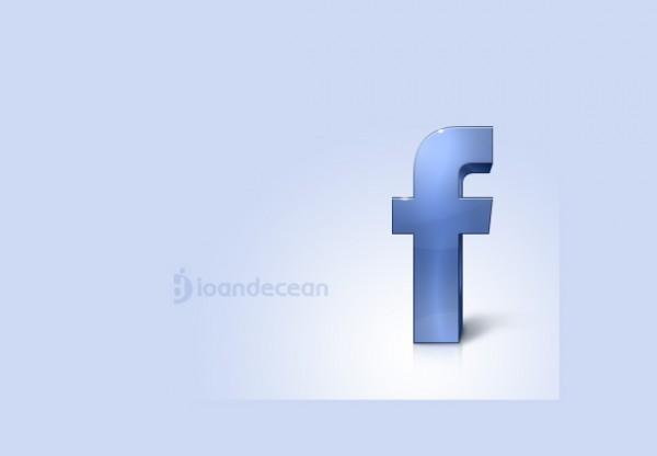 Stand Alone Glossy Facebook F Icon Welovesolo
