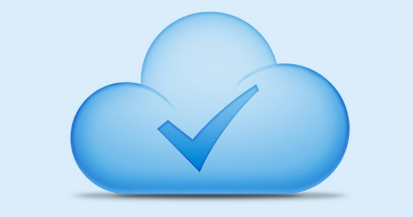 psd source files positive photoshop resources mark icon Free icons cloud blue