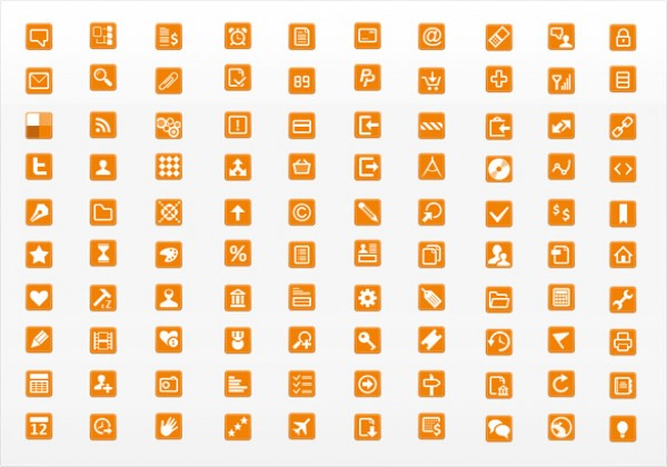 266 orange minimalistic web icons set welovesolo 266 orange minimalistic web icons set reheart Images