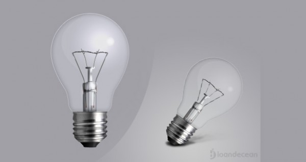 Clean Clear Light Bulb Icon PSD - WeLoveSoLo
