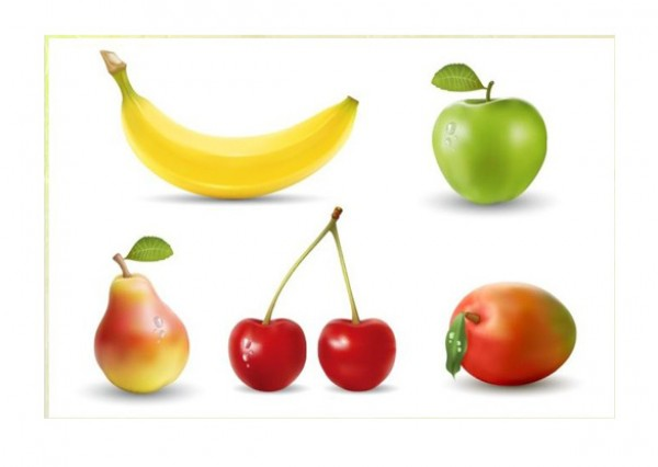 web Vectors vector graphic vector unique ultimate realistic quality Photoshop pear pack original new modern mango juicy illustrator illustration high quality fruit fresh free vectors free download free download design creative cherries banana apple AI