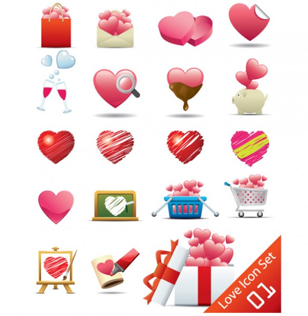 vector Valentine's Day heart source file psd photoshop resources illustrator heart-shaped heart-shaped petals of peach roses free vectors free downloads EPS AI
