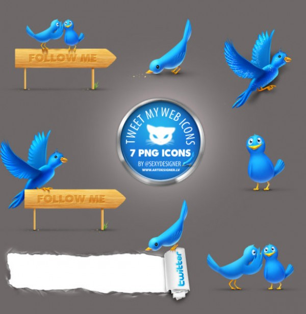 8 Cute Neat Twitter Icons