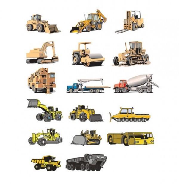 Heavy equipment vector vehicles welovesolo