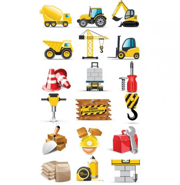 web vector unique ui elements tools stylish quality original new machinery lunchbox interface illustrator icons hook high quality hi-res HD graphic fresh free download free equipment elements download detailed design creative crane construction cement