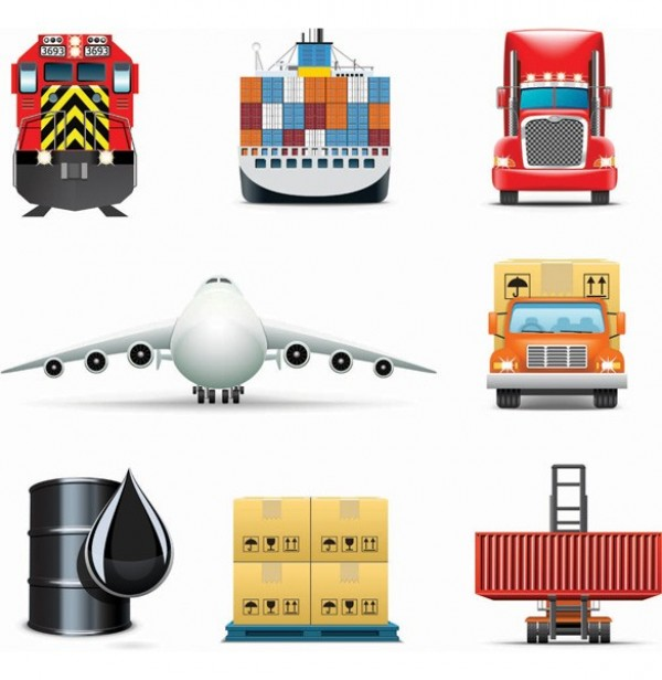 web vector unique ui elements truck transportation transport train stylish shipping ship quality plane original oil barrel new interface illustrator icon high quality hi-res HD graphic fresh free download free forklift elements download detailed design creative