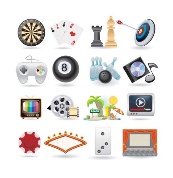 web vector unique ui elements tv tropics travel stylish quality pool original new music interface illustrator icon high quality hi-res HD graphic games fresh free download free entertainment elements download detailed design darts creative controller cinema chess cards bowling