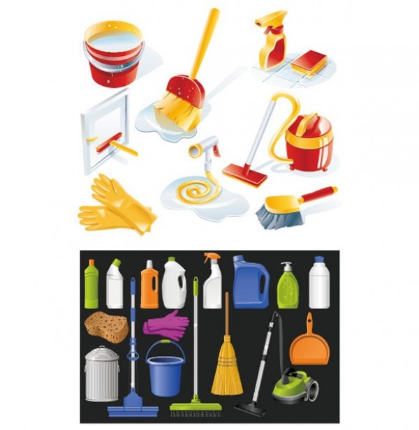 web vector vacuum cleaner unique ui elements stylish rubber gloves quality pail original new interface illustrator icon high quality hi-res HD graphic fresh free download free elements download detailed design creative cleaning supplies cleaning broom