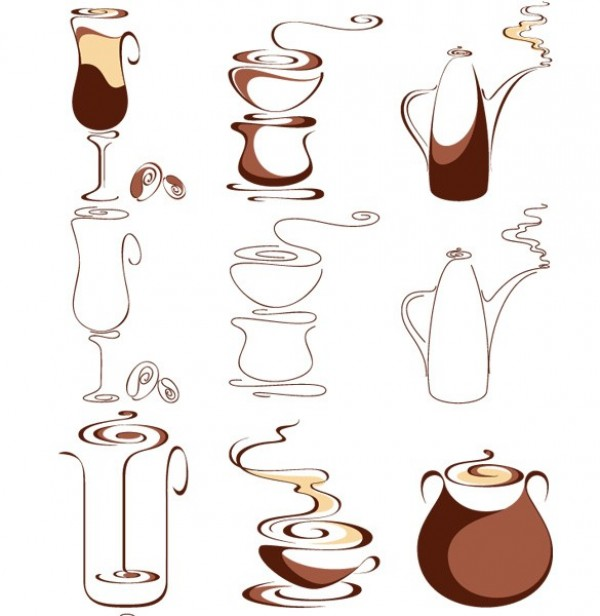 web vector unique ui elements stylish set quality pack original new interface illustrator icons high quality hi-res HD graphic fresh free download free espresso elements download detailed design creative coffeepot coffee cup coffee carafe cappuccino aroma
