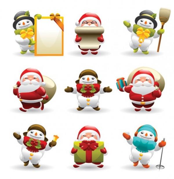 web vector unique ui elements stylish snowman santa icon santa quality original new interface illustrator icon high quality hi-res HD graphic fresh free download free elements download detailed design creative cartoon