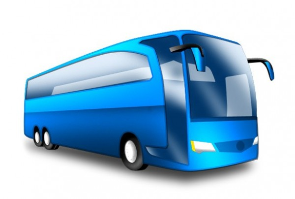 Sleek Blue Tour Bus Icon Png Welovesolo