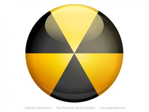 yellow web unique ui elements ui stylish simple round radiation sign radiation quality psd danger icon original new modern interface icon hi-res HD fresh free download free elements download detailed design danger icon creative clean black