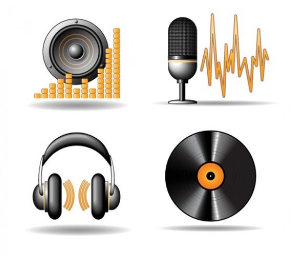 web vinyl vector unique ui elements stylish stereo speaker record quality original new music microphone interface illustrator icons high quality hi-res headphones HD graphic fresh free download free equalizer elements download detailed design creative
