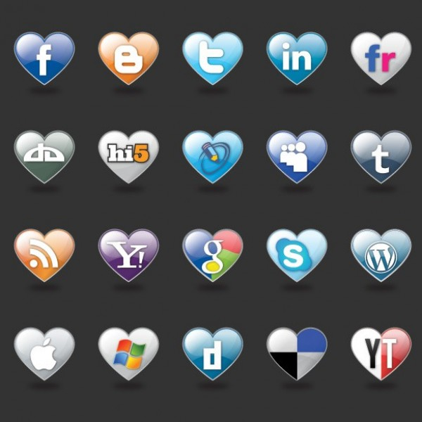 web unique ui elements ui stylish social icons social simple set quality pack original new networking modern interface icons hi-res heart shape icons heart HD fresh free download free elements download detailed design creative clean bookmarking