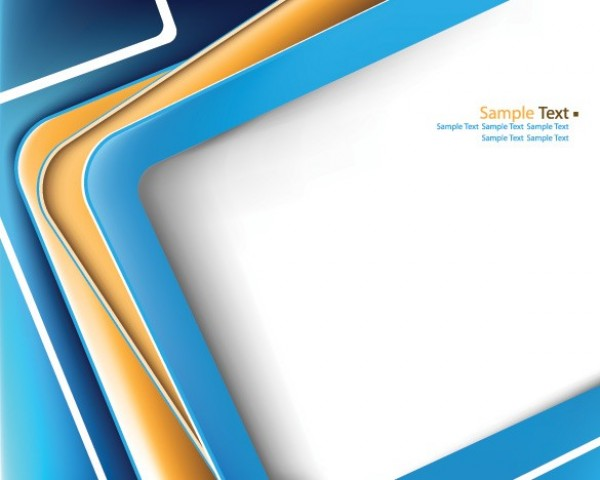 2 frame style business card vector templates