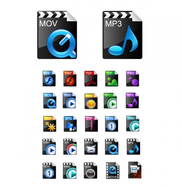 web video format video vector unique ui elements stylish software shiny quality png player PDF original new MP3 music MOV interface illustrator icons high quality hi-res HD graphic glossy gif fresh free download free Flash elements download detailed design curled sticker creative camera button