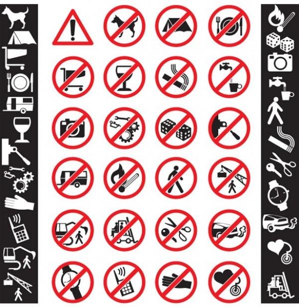 Danger Radiation Stop Vector Icon Set Welovesolo
