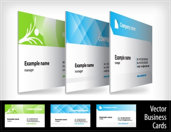 3 Attractive Business Cards Vector Templates