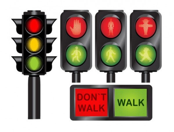 p16hkbkrmldrq8221khd1g261umk9 details Traffic Signal Light & Pedestrian Vector Icons Set