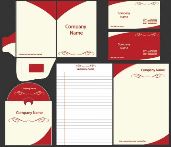 bold business identity vector template set welovesolo. Black Bedroom Furniture Sets. Home Design Ideas