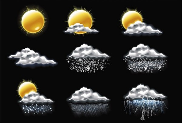 web weather icons weather vector unique ui elements sunny sun stylish stormy raining rain quality original new lightning interface illustrator icons high quality hi-res HD graphic fresh free download free elements download detailed design creative cloudy climate
