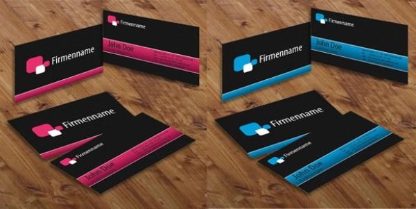 Sleek business card templates set psd welovesolo sleek business card templates set psd reheart Choice Image