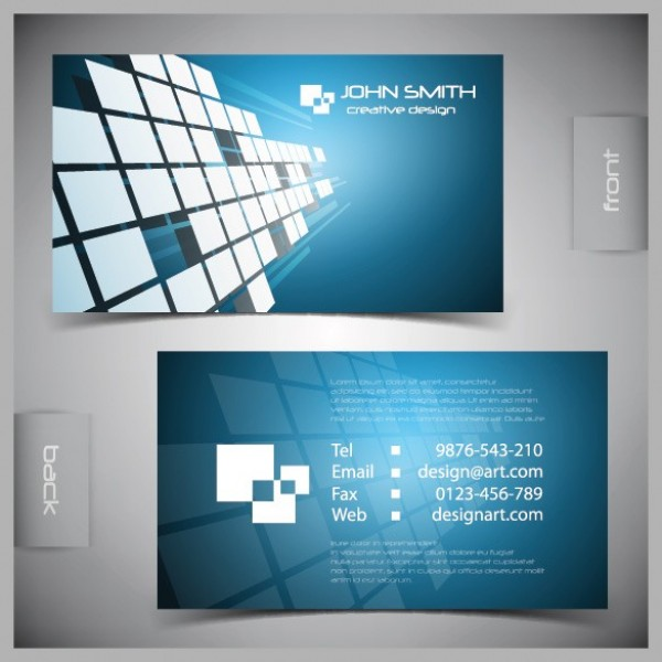 Blue futuristic business card vector template welovesolo web visiting vector unique ui elements template stylish quality presentation original new modern interface illustrator high reheart Images