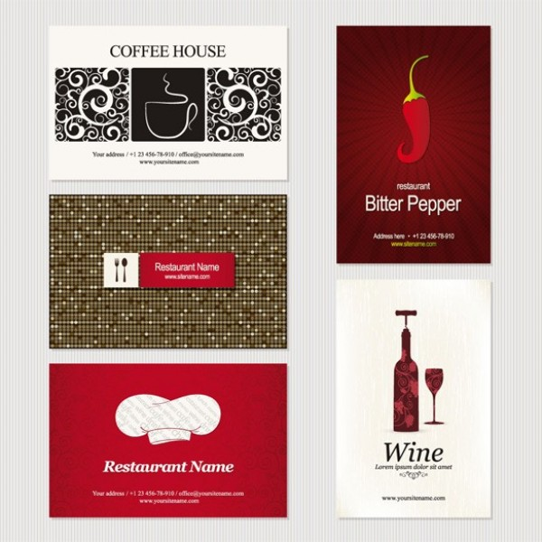 11 creative business card templates vector set welovesolo wine web vector unique template stylish shop restaurant quality original illustrator high quality graphic fresh free set of 11 business card reheart Image collections