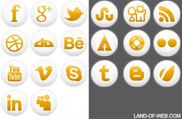 white web vector unique ui elements stylish social round quality png original orange new networking media interface illustrator high quality hi-res HD graphic glossy fresh free download free elements download detailed design creative bookmarking