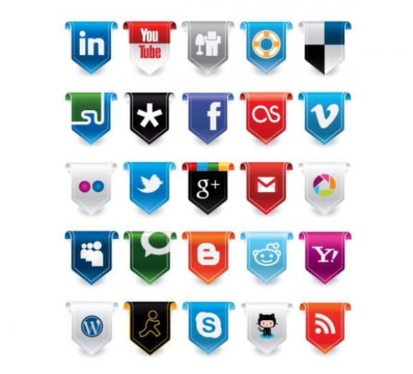 web vector unique ui elements tab stylish social media icons social set ribbon quality pack original new networking interface illustrator icons high quality hi-res HD graphic fresh free download free flag elements download detailed design creative buttons bookmarking