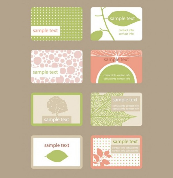 Soft nature business card template vector set welovesolo business cards comments 403 views web vector unique ui elements template tan stylish soft set quality peach original organic new nature reheart Image collections