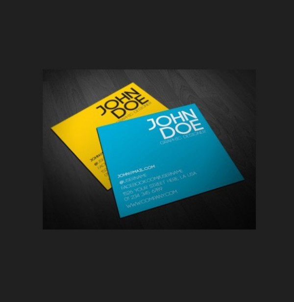 Modern Square Business Card Template PSD WeLoveSoLo - Square business card template