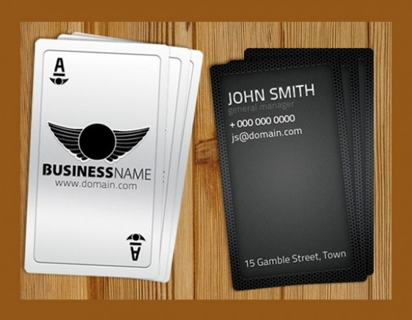 Black casino style business card template set psd welovesolo black casino style business card template set psd accmission Images