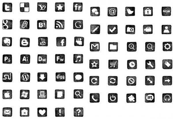 web unique ui elements ui stylish stamp social icons set quality png pack original new modern interface icons hi-res HD fresh free download free elements download dock icons detailed designer design creative clean black