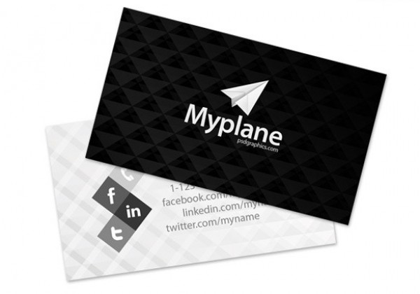 Modern blackgrey business card template psd welovesolo white web unique ui elements ui triangle template stylish quality psd professional pattern original new modern professional business card reheart Images