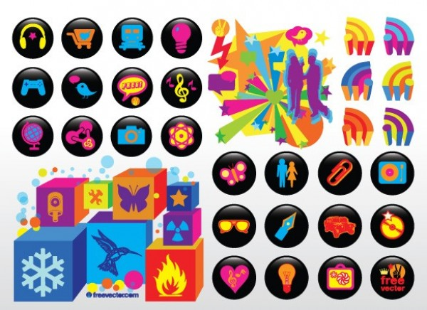 web vector unique ui elements symbols stylish stars silhouettes set round quality original new neon interface illustrator icons humming bird high quality hi-res HD graphic fresh free download free elements download detailed design cubes creative butterfly black AI