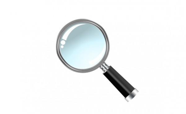 Shiny Magnifying Glass Search Icon PSD