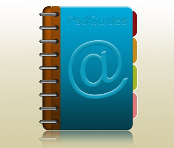 tabbed coiled address book icon psd welovesolo