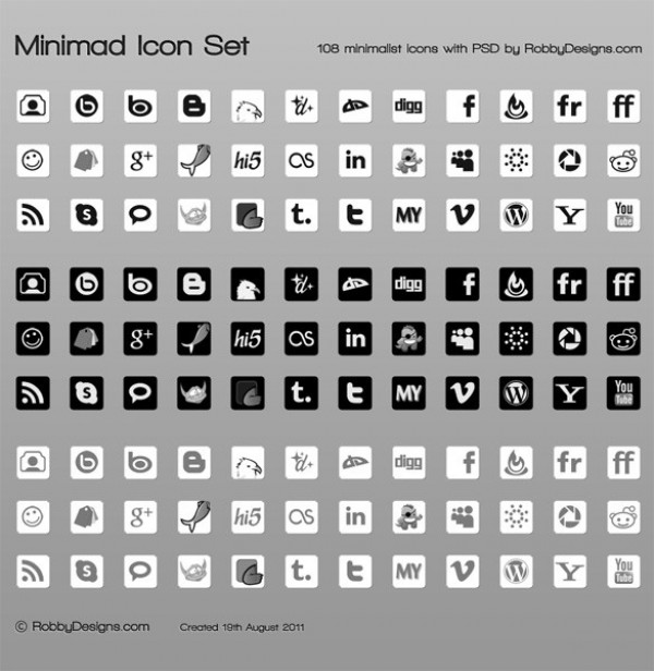 white web unique ui elements ui stylish social icons set social set quality psd png pack original new networking modern minimalistic minimal interface icons hi-res HD grey fresh free download free elements download detailed design dark creative clean bookmarking