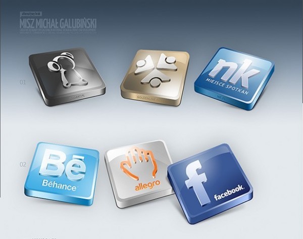 web unique ui elements ui stylish square social icons set social set quality psd original new networking modern interface hi-res HD glossy fresh free download free elements download detailed design creative clean bookmarking 3d