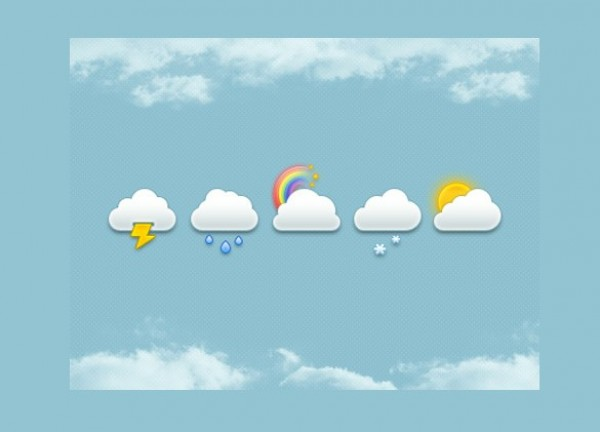 web weather icons weather unique ui elements ui sunny stylish snow set rainbow rain quality psd original new modern lightning interface icons hi-res HD fresh free download free elements download detailed design creative clouds cloud icons climate clean