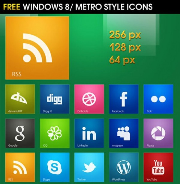 windows 8 social icons windows 8 web unique ui elements ui stylish square social icons set social icons simple set quality png original new networking modern metro interface hi-res HD fresh free download free elements download detailed design creative colorful clean bookmarking