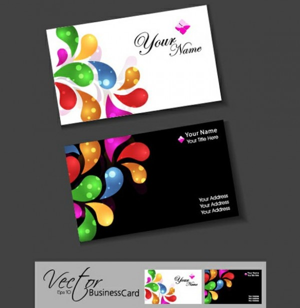 Vivid colors business card templates set welovesolo web vivid vector unique ui elements template stylish shapes quality original new light interface illustrator high bright colorful shapes business card colourmoves