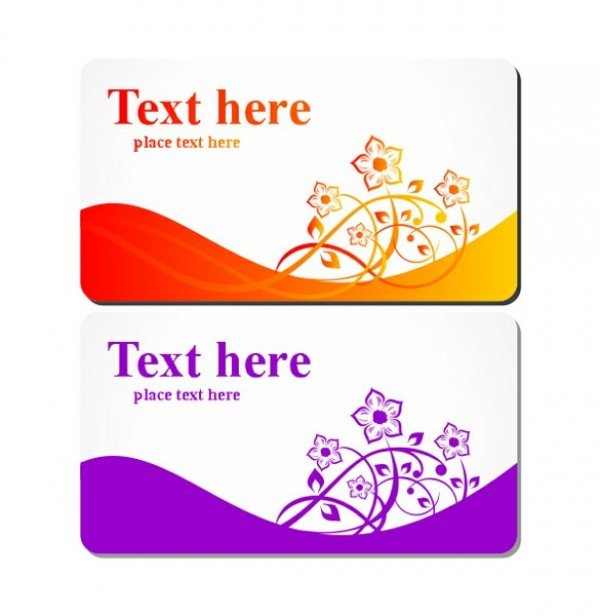 Floral Business Or Gift Card Templates Set Welovesolo