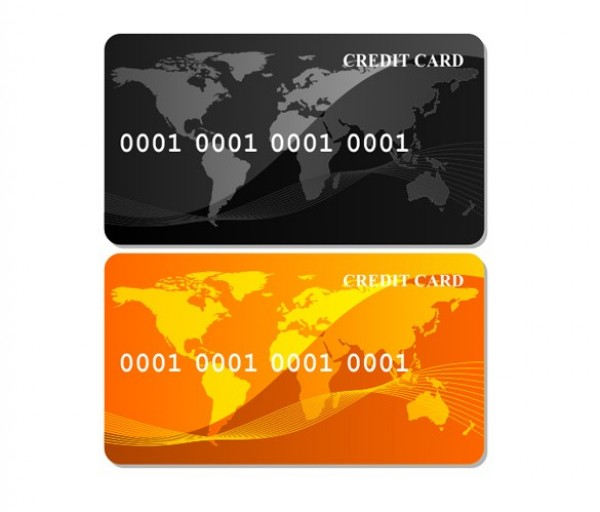 2 glossy business credit card vector set welovesolo 2 glossy business credit card vector set reheart Choice Image