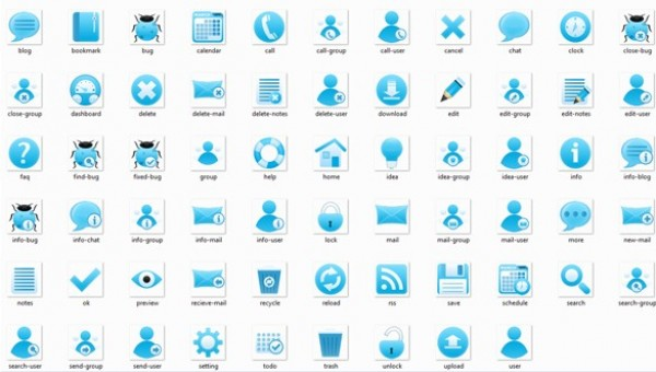 75 Web UI Blue Designer Icons Pack PNG - WeLoveSoLo
