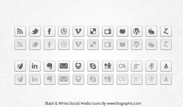 web unique ui elements ui stylish social icons set social quality psd original normal new networking modern interface icons hover hi-res HD grey fresh free download free elements download detailed design creative clean bookmarking black and white