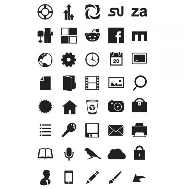 40 Echo Minimal Pictogram Style Vector Icons Set WeLoveSoLo